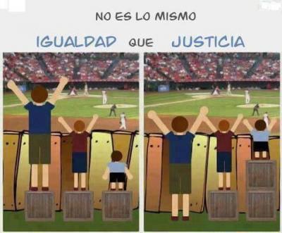 IGUALDAD NO ES JUSTICIA